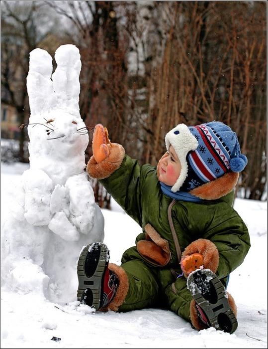 зима Веселые идеи для прогулок с детьми