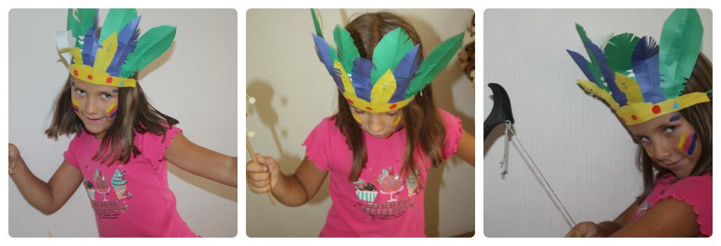 collage tanec Увлекательные выходные с детьми: Перевоплощаемся в индейцев